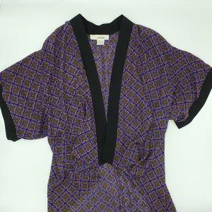 Sans Souci Kimono Wrap Top Blouse Art to Wear